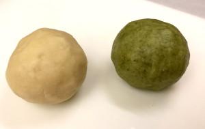 Left: Original Dough, Right: Moringa Dough