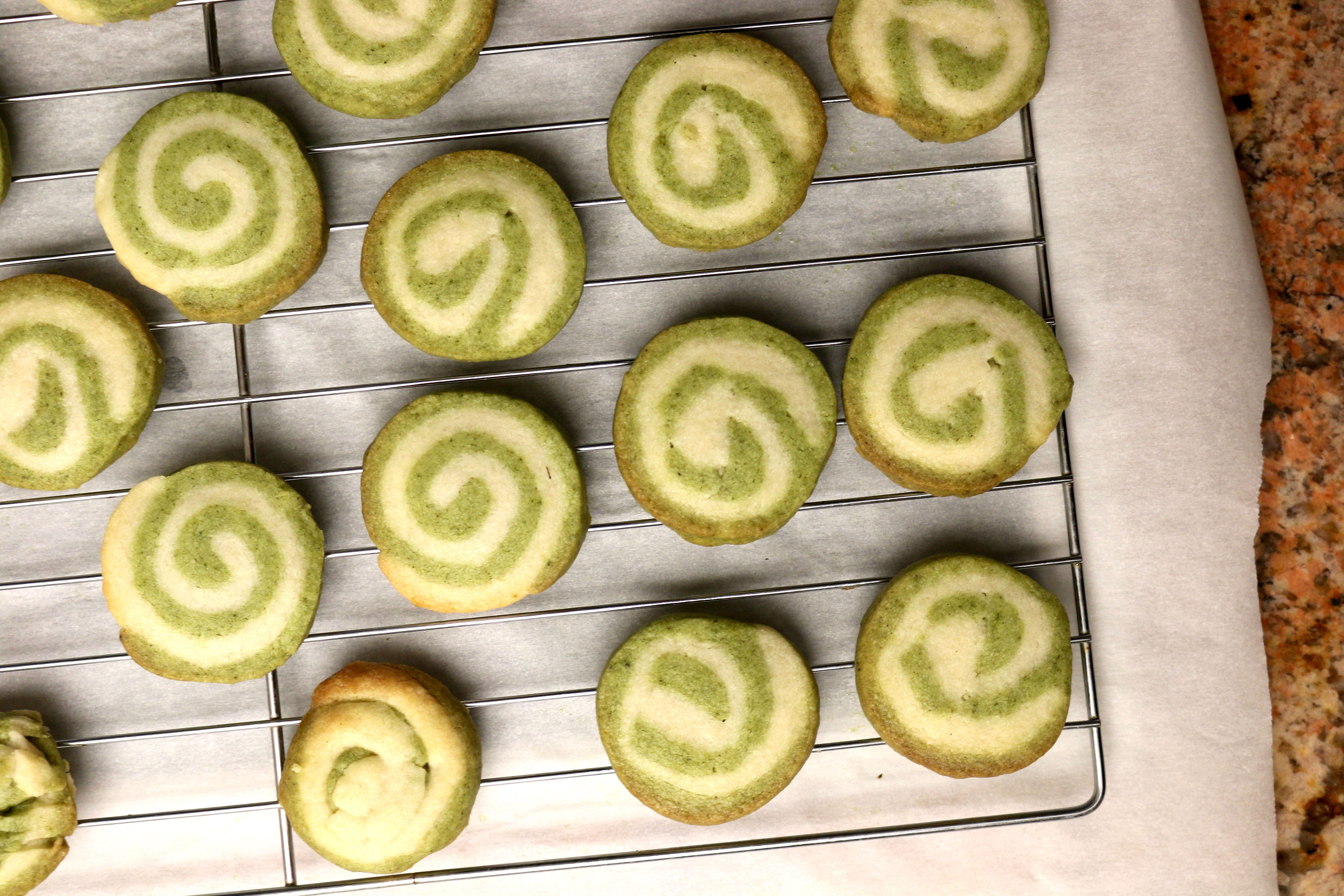 st patty 39 s moringa swirl cookies. Black Bedroom Furniture Sets. Home Design Ideas
