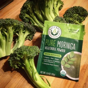 Broccoli and Moringa for Soup