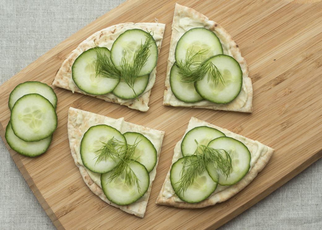 Pita Toast with Moringa Tofu Hummus - Kuli Kuli Foods
