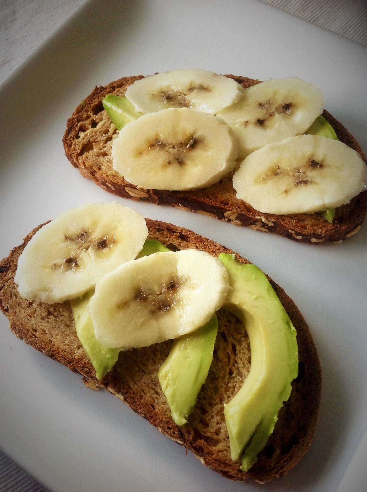 Avocado Banana Rye Toast
