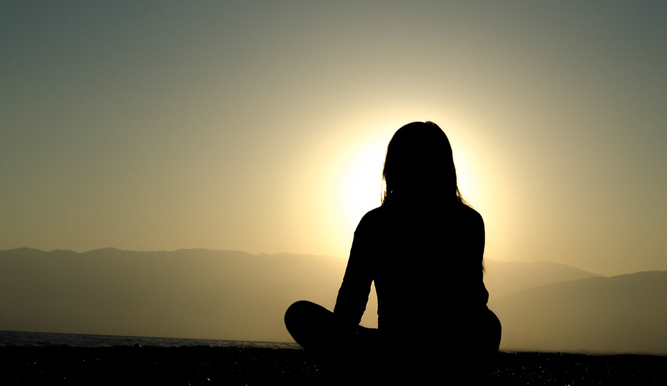 meditate-sunset