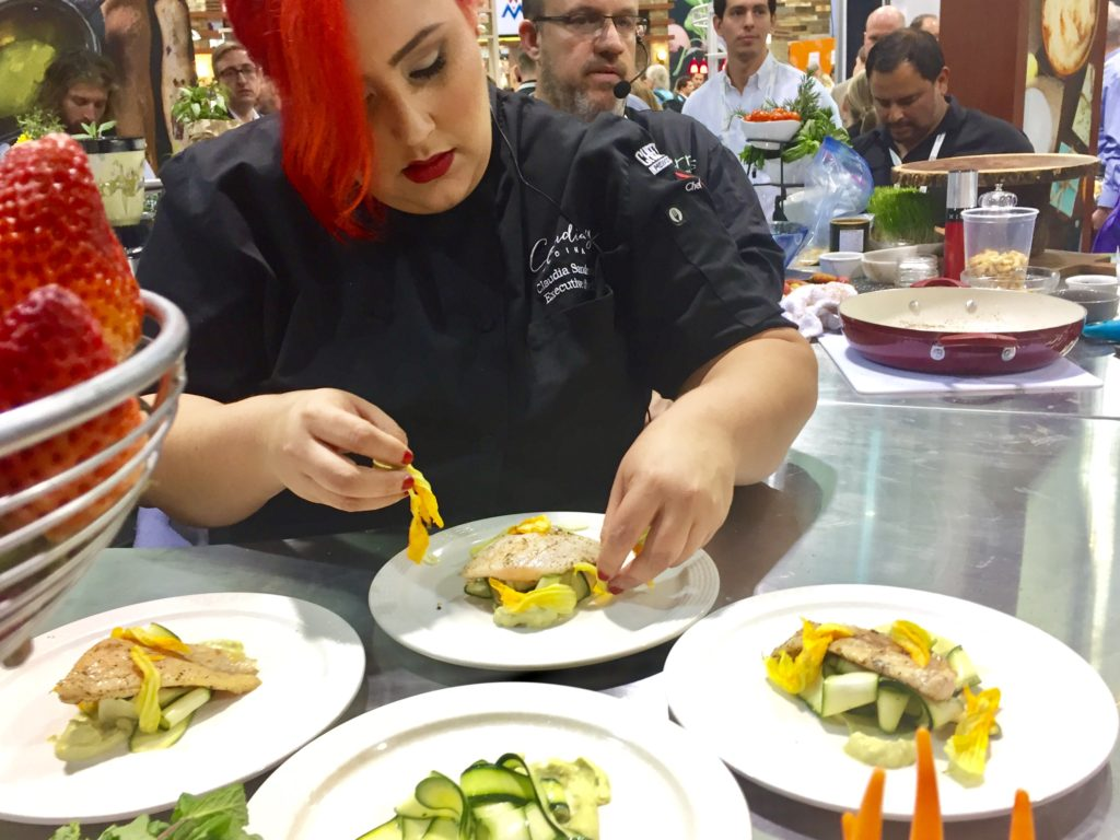 Chef Claudia Plates Corvina in #MoringaInspired Dish