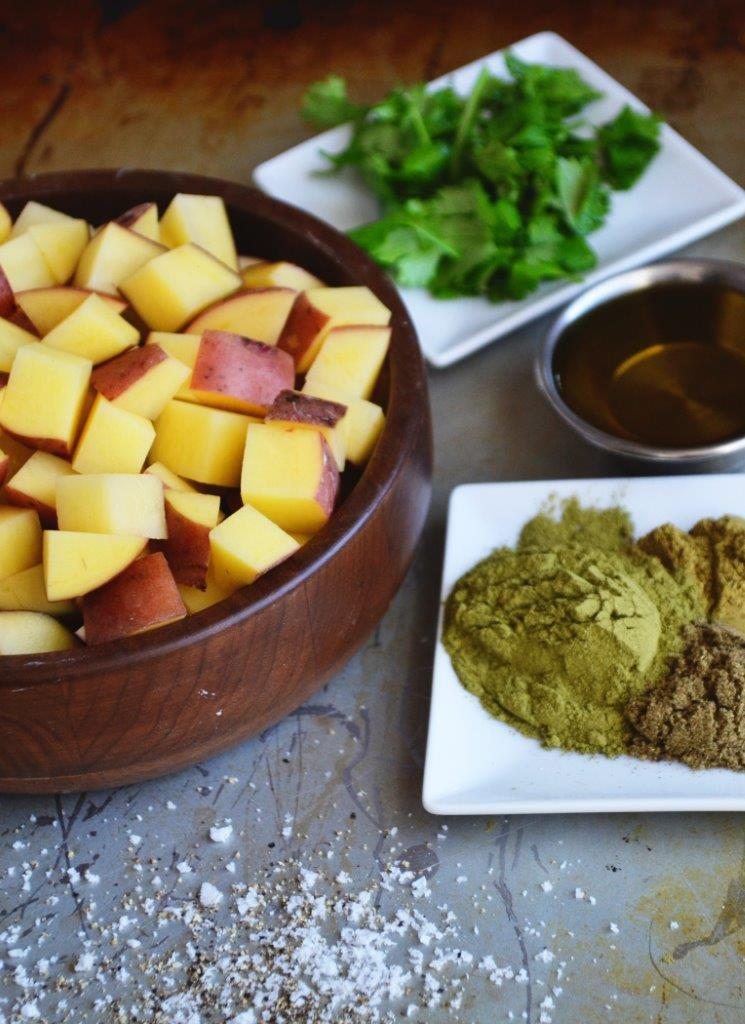 Herbed Irish Potatoes with Moringa
