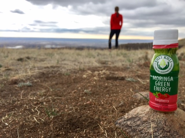 Trail Running with Moringa Green Energy Shots