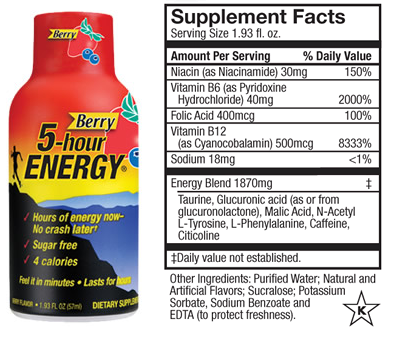 Moringa Green Energy Shots vs 5 Hour Energy