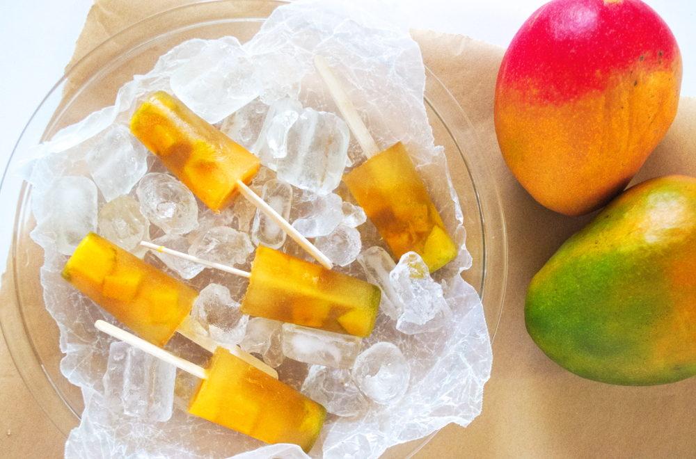 Mango Lemongrass Popsicles