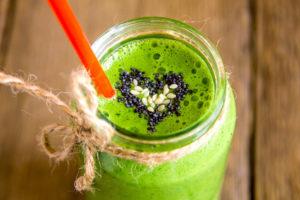 Green moringa smoothie