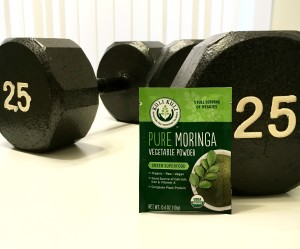 weights with moringa packet