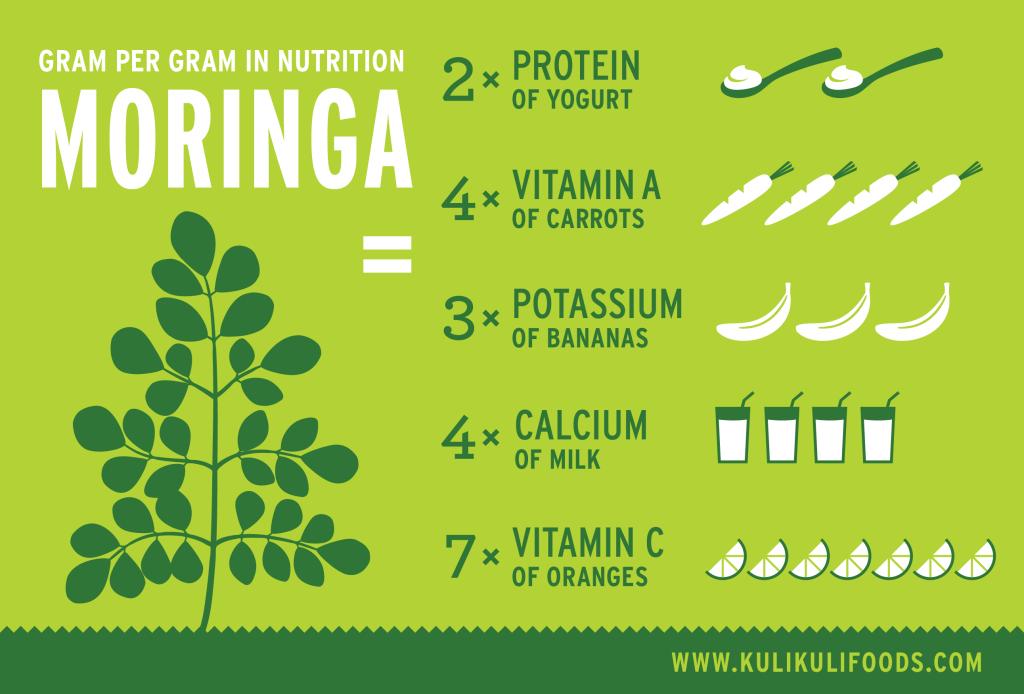 moringa nutrition infographic