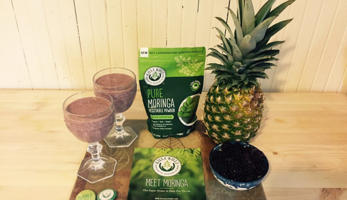 Blackberry Pineapple Moringa Breakfast Smoothie