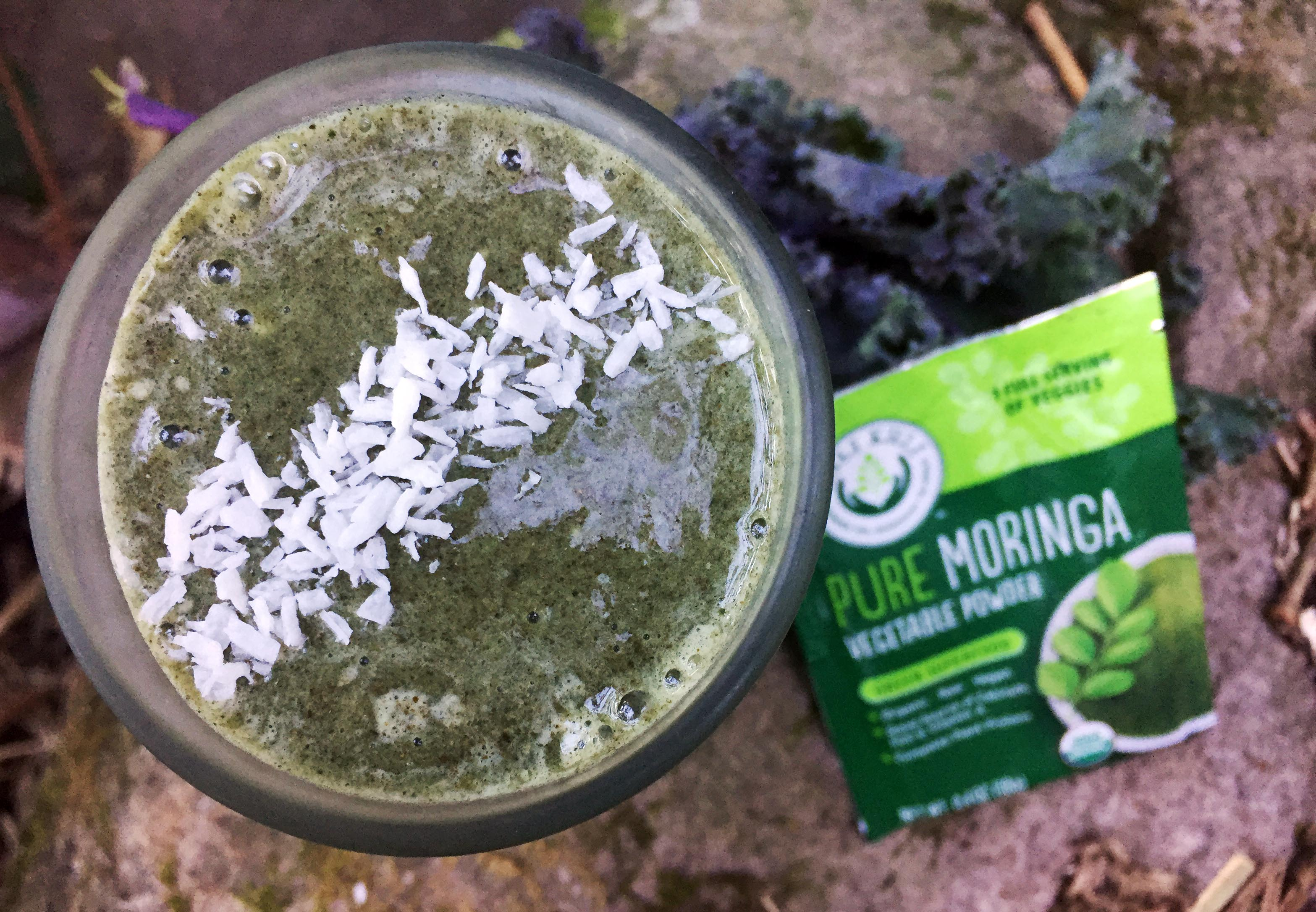 Spirulina and Moringa Smoothie