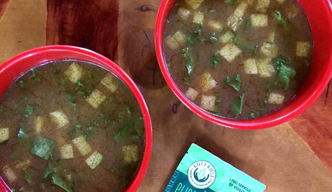 miso green moringa soup