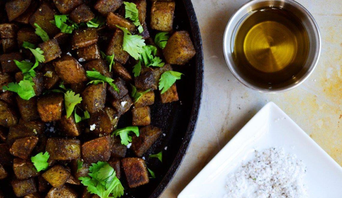 Herbed Irish Potatoes with Moringa