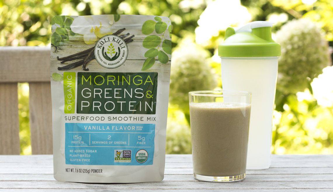 Kuli Kuli Organic Moringa Greens & Protein Superfood Smoothie Mix, Vanilla