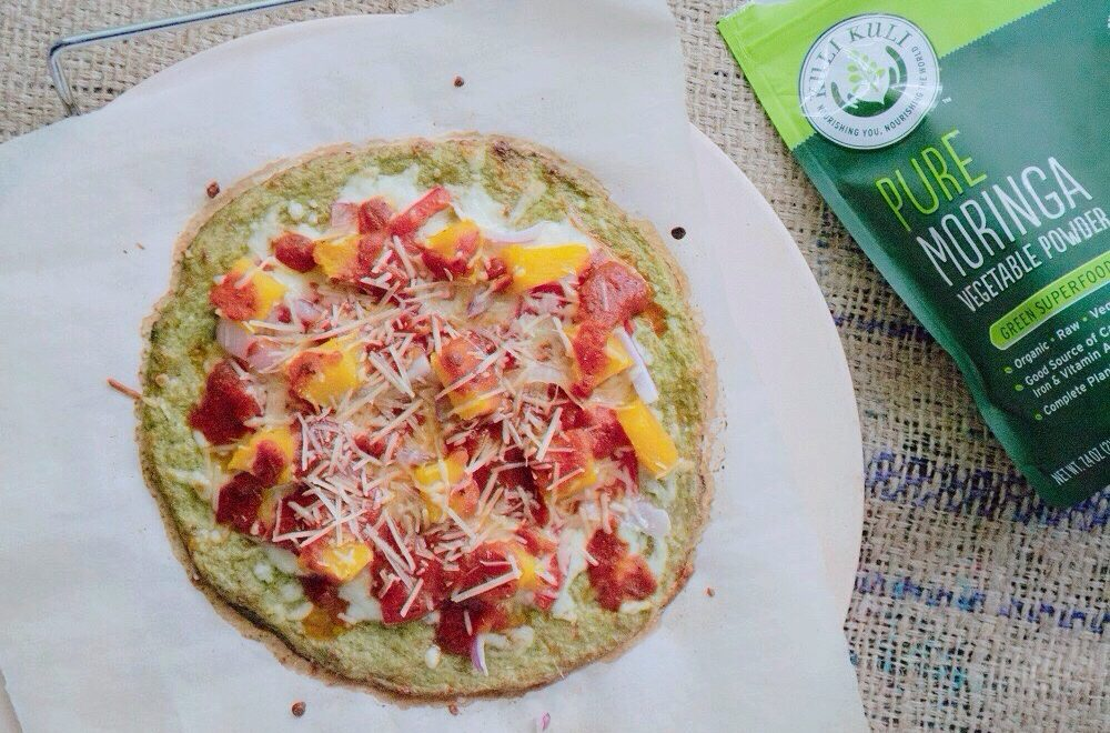 Butternut Squash Pizza with Moringa Cauliflower Crust (Gluten Free)