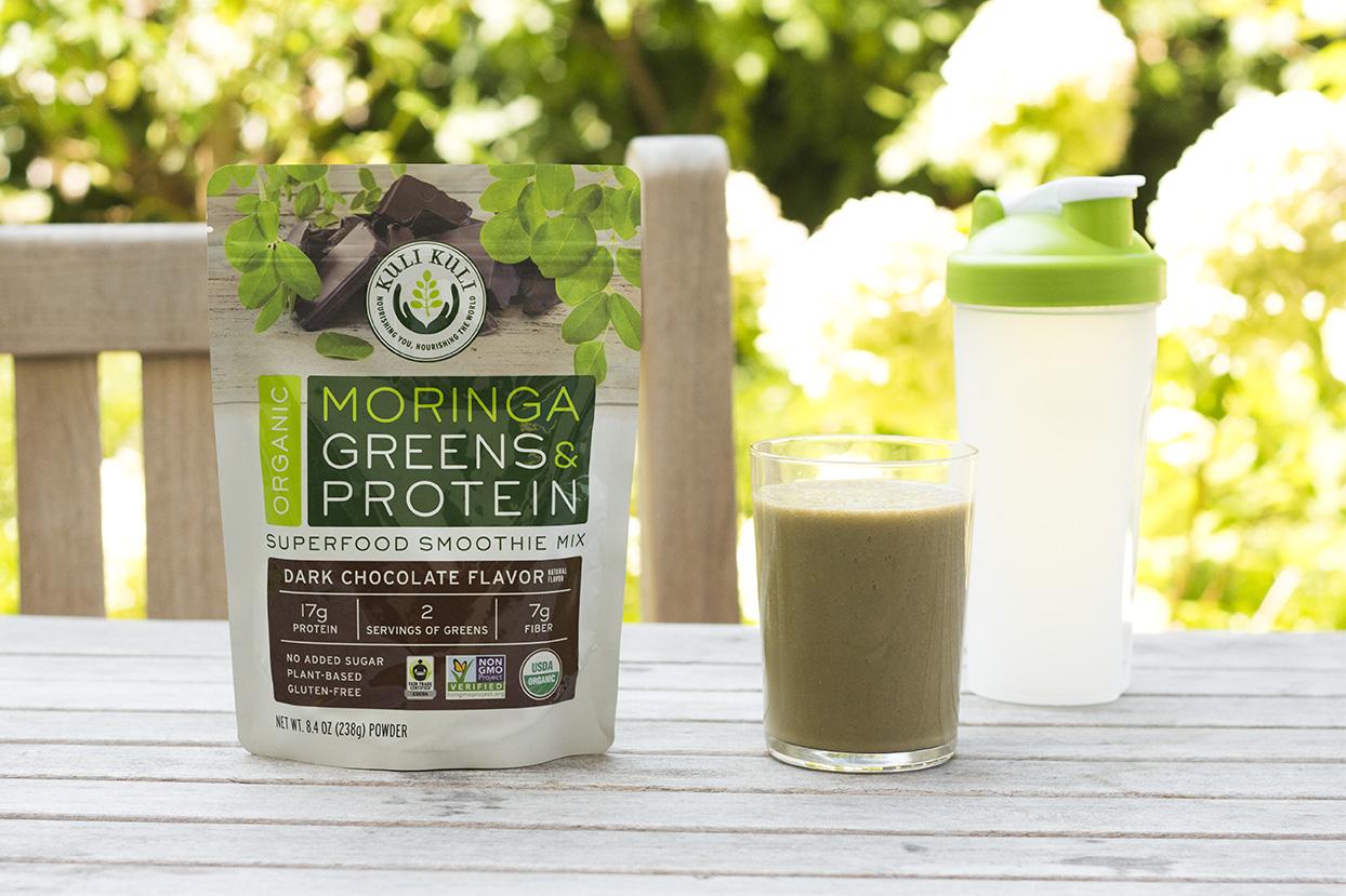 Kuli Kuli Organic Moringa Greens & Protein Dark Chocolate