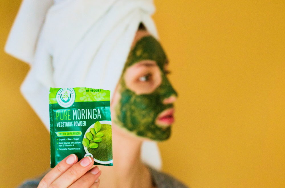 DIY Superfood Face Mask with Moringa and Spirulina