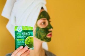 moringa face mask