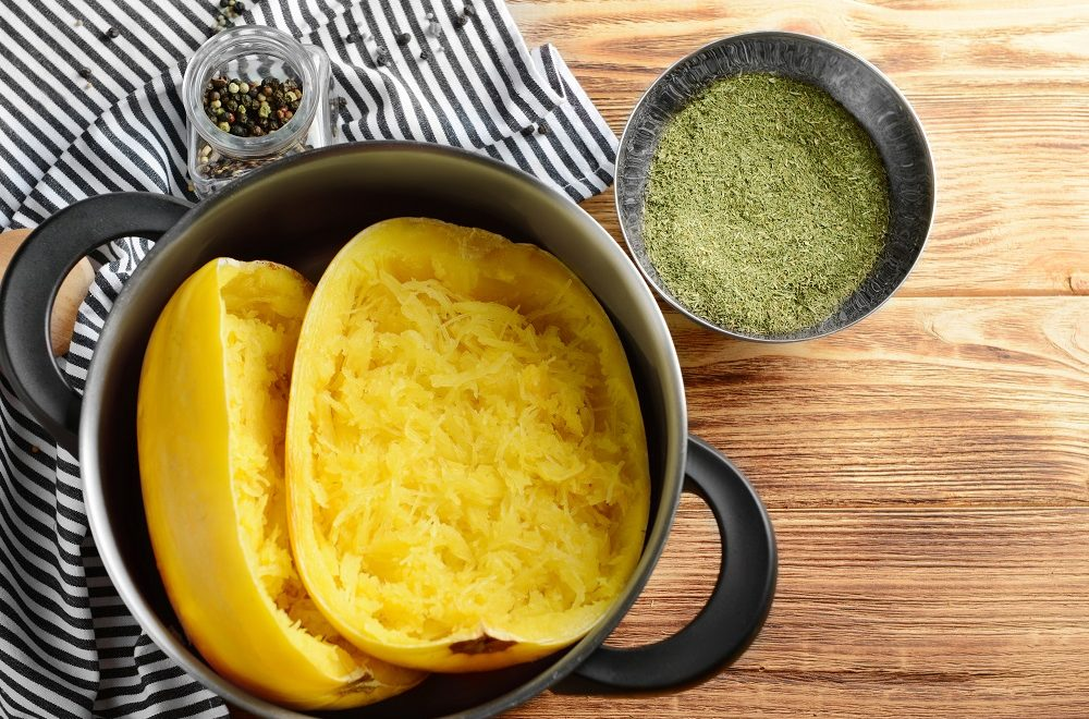 Spaghetti Squash with Moringa Pesto