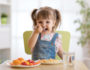 Child eating moringa marinara pasta