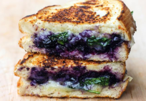Blueberry Basil Moringa Grilled Cheese