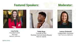 Three speakers for climate-smart webinar