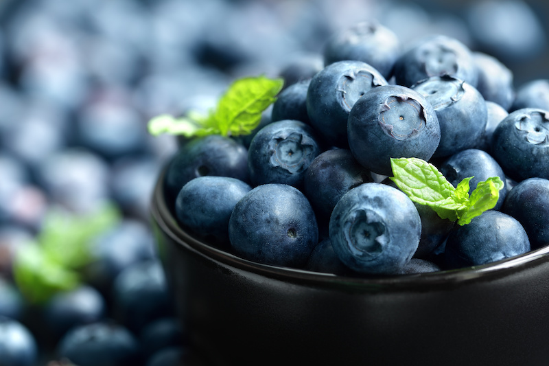 Blueberry antioxidant organic superfoods