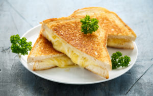 Grilled Cheese sandwich on plate