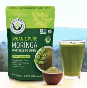 Pure Moringa Powder with green smoothie